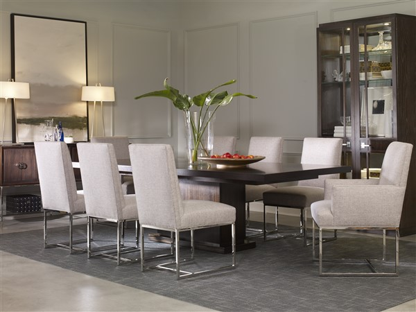 Charming AS SHOWN: W738T   Bradford Dining Table. Finish: Brownstone.