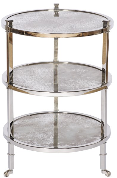 Ellsworth Round Lamp Table WESS Our Products Vanguard Furniture - Stainless steel table top shelves