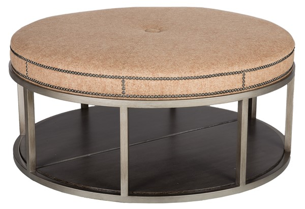 Super Wayland Round Metal Ottoman W42Dmbl Our Products Caraccident5 Cool Chair Designs And Ideas Caraccident5Info