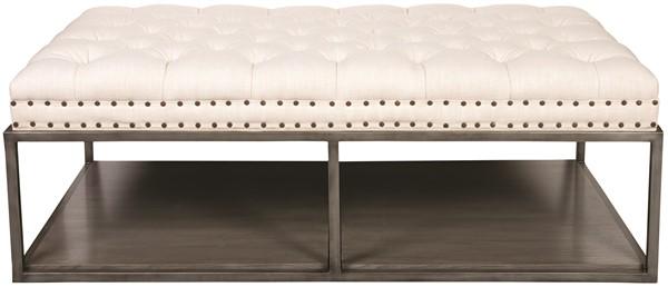 Awe Inspiring Wayland Large Rectangular Metal Ottoman W58Lmke Our Ncnpc Chair Design For Home Ncnpcorg