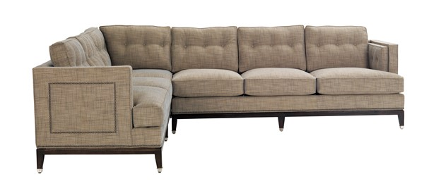 As Shown C18 Lcs Left Arm Corner Sofa Ras Right Fabric Tally Cloud Nail Trim Standard 9 In Black Silver Outside Back Arms