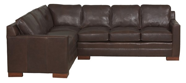 As Shown L610 Lcs Left Corner Sofa With Ras Right Arm Leather Mont Blanc Anthracite Discontinued Block Leg Finish Clic Mahogany