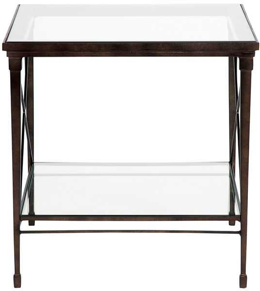 Barkley Console Table: Hardin Lamp Table / Glass Top P426L